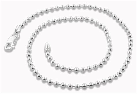 sterling silver bead chain sterling silver 18 quot bead chain necklace 3 0mm