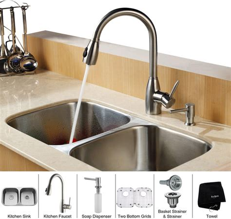 32 Inch Undermount Kitchen Sink by Kraus 32 Inch Undermount Bowl Stainless Steel