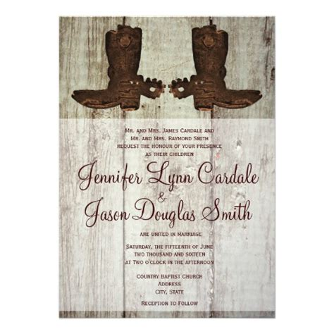 country style invitations cowboy boots country western wedding invitations 5 quot x 7