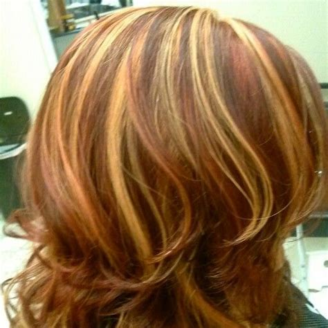 blonde and copper hairstyles blond and copper highlights on red hair color haircuts
