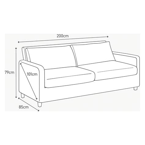 dimensions of sofa 3 seater sofa dimensions in feet www energywarden net
