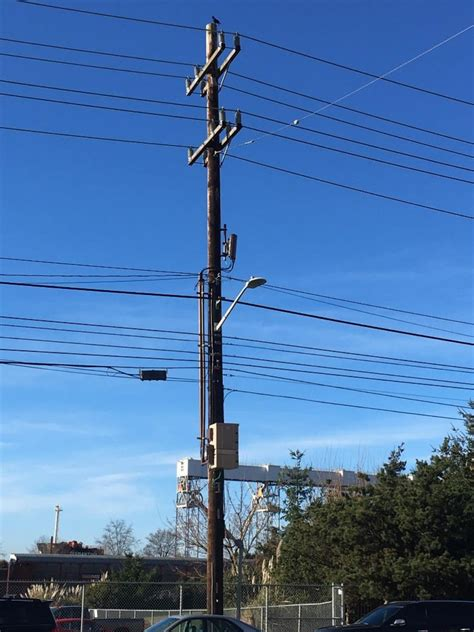 electric light pole how seattle city light places small cells on wooden