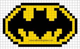 Minecraft Pixel Templates Batman by Minecraft Pixel Templates Batman Logo