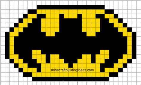 minecraft pixel templates batman minecraft pixel templates batman logo