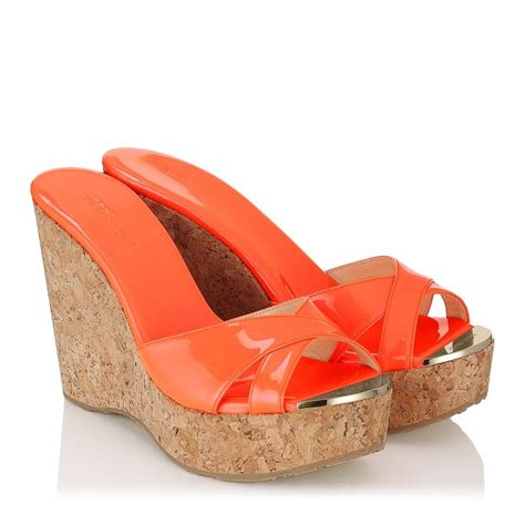 Orange Wedges By C Boutique 1000 images about jimmy choo wedges on