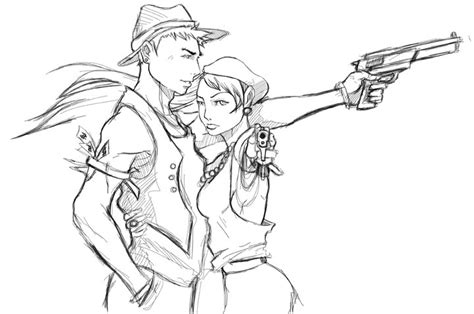 bonnie clyde sketch by djgd on deviantart