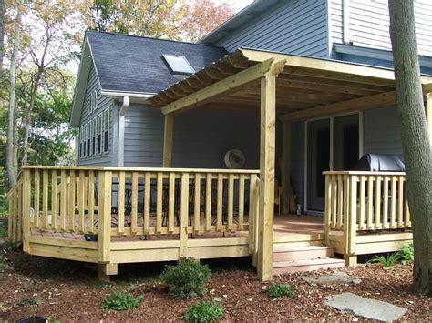 Porch Patio Deck by Porch Railing Designs Wood