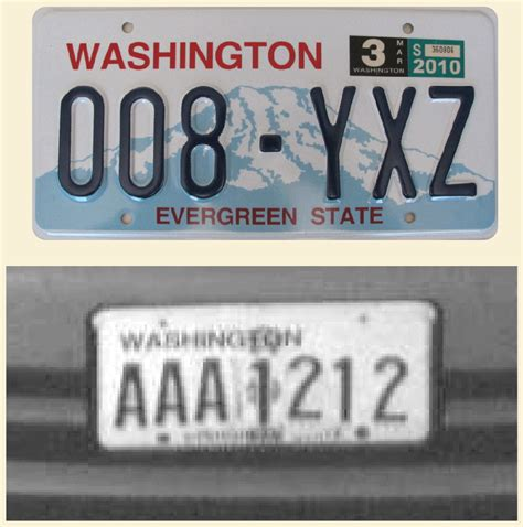 Vanity Plates Washington by The Wsdot Washington State Department Of