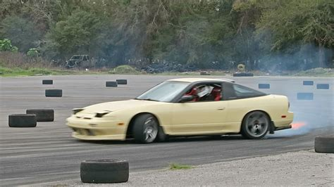 nissan 240sx cream my second drift event getting better youtube