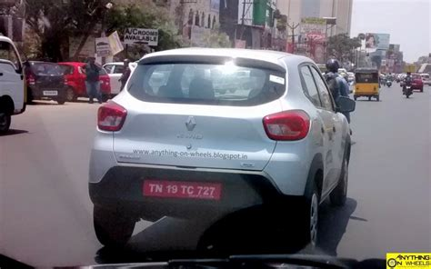 renault kwid silver bigger kwid 1 0 liter spotted on the road launch in