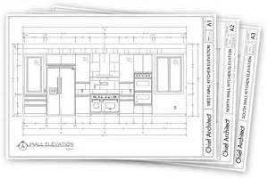 Architect Plan fanned out display of 3 pages in a design construction document with