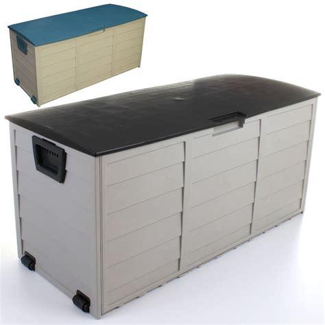 plastic storage bin dresser outdoor garden plastic storage cushion box shed utility