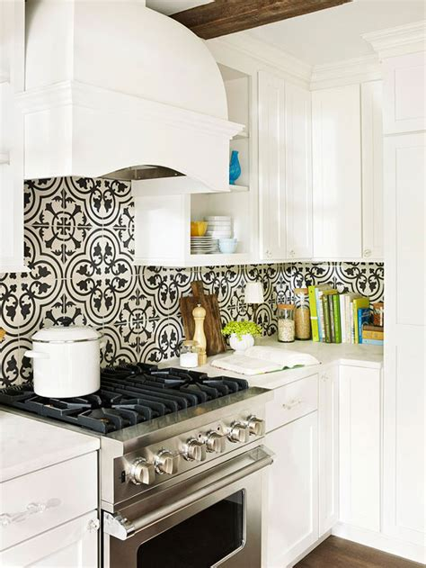 White Kitchen Backsplash Patterned Moroccan Tile Backsplash Design Decor Photos