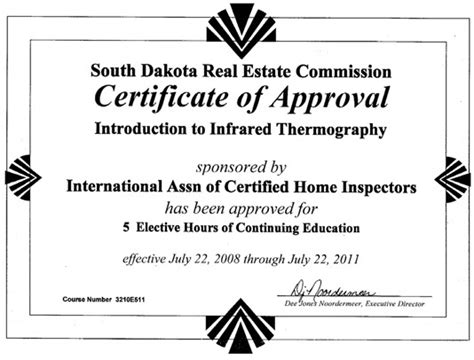 how to become a certified home inspector in south dakota