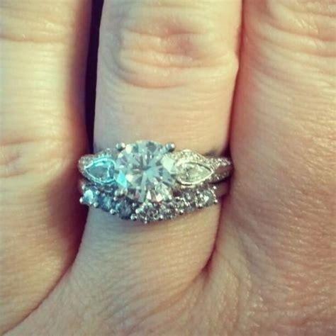 platinum art deco engagement ring with diamond wedding