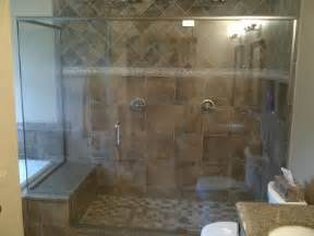 Showers With Seats And Glass Doors Peters Glass Quality Service