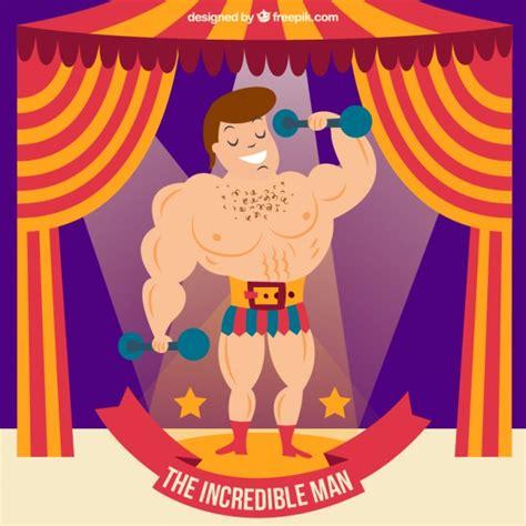 el circo con ventanas 8430549005 el hombre incre 237 ble en el circo descargar vectores gratis