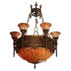 alabaster chandelier alabaster and bronze chandelier at 1stdibs