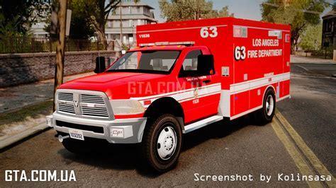 Ram Els dodge ram 3500 2011 lafd ambulance els ð ð ñ gta 4 â gta