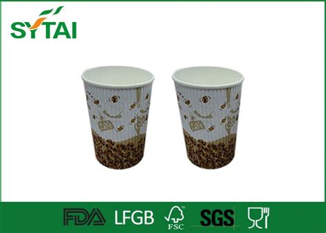 Ananastarte Without Paper Cup customized disposable ripple paper cups without lids corrugated paper cups for coffee