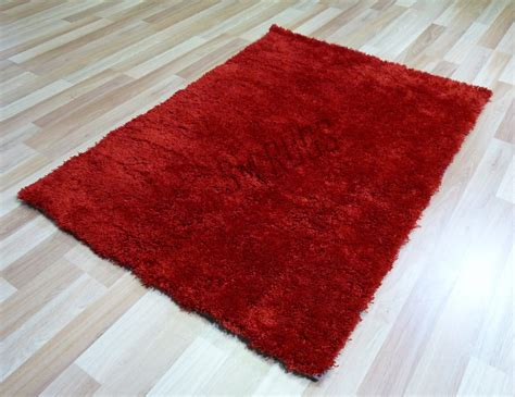 wolldecke rot floor rug soft plush shag shaggy carpet 150 x 220