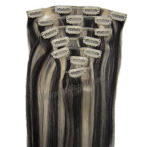 26 inch 1b 613 clip 26 inch 1b 613 clip in human hair extensions 10pcs