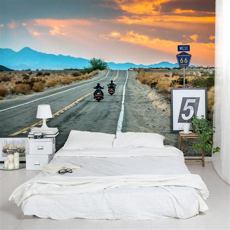 route  riders wall mural
