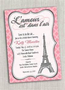 Eiffel tower paris party invitation card wedding bridal shower tea