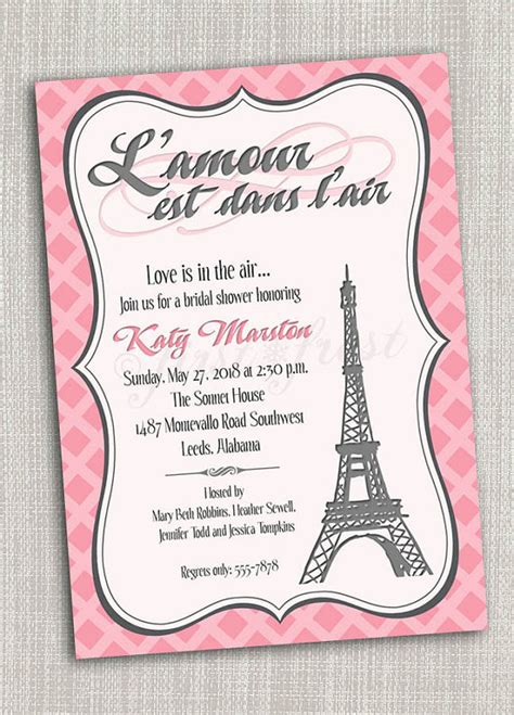 free printable birthday cards in french french themed eiffel tower paris party invitation card