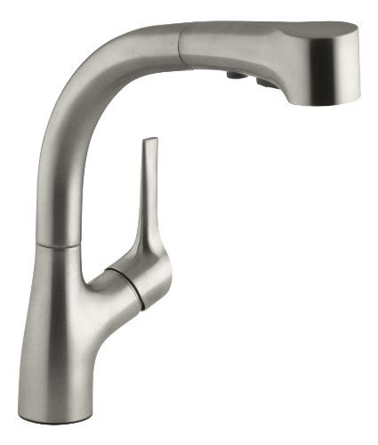 kohler elate kitchen faucet k 10433 vs color matched sprayhead stainless