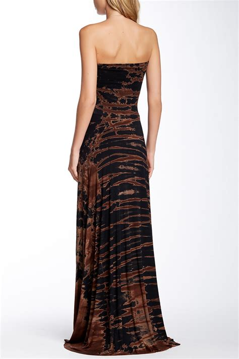 Maxi Syari Fatimah Brown Quality go couture tie dye strapless maxi dress nordstrom rack