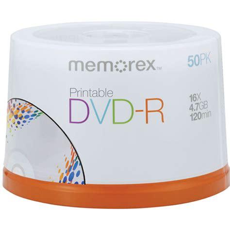 Memorex 4 7gb 16x Dvd R memorex dvd r 4 7gb 16x white inkjet printable discs 04755 b h