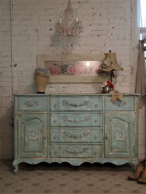 reserved alice painted cottage chic shabby aqua server buffet or dresser dr292 painted