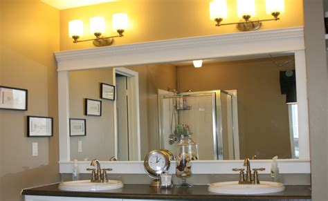 bathroom mirror moulding full of great ideas how to upgrade your builder grade