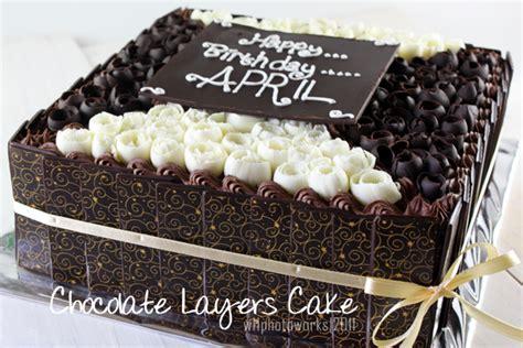 Coklat Pasta D Filling widya cakes chocolate layers cake april