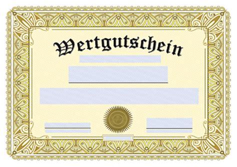 Gutschein Vorlagen Muster Photo Collection Gutschein Muster Und Vorlage