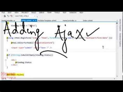 mvc tutorial php youtube submit mvc form with jquery ajax upload file asp net mvc