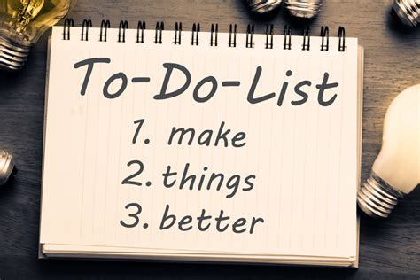 better to do list an encouraging to do list for getting organized in 2016