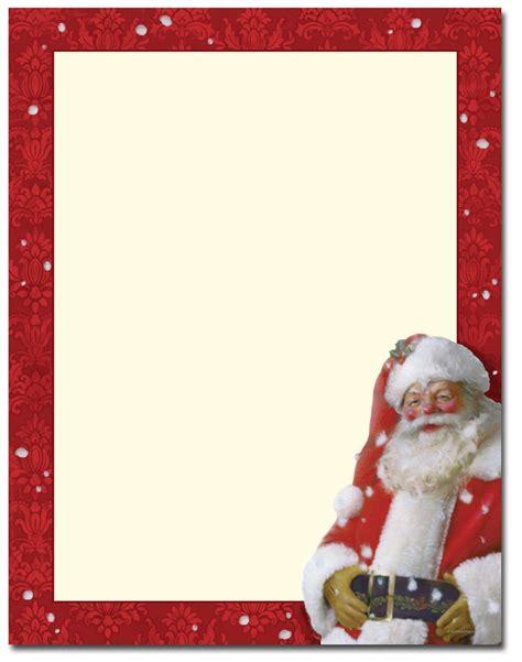 printable santa border paper jolly st nick letterhead the image shop