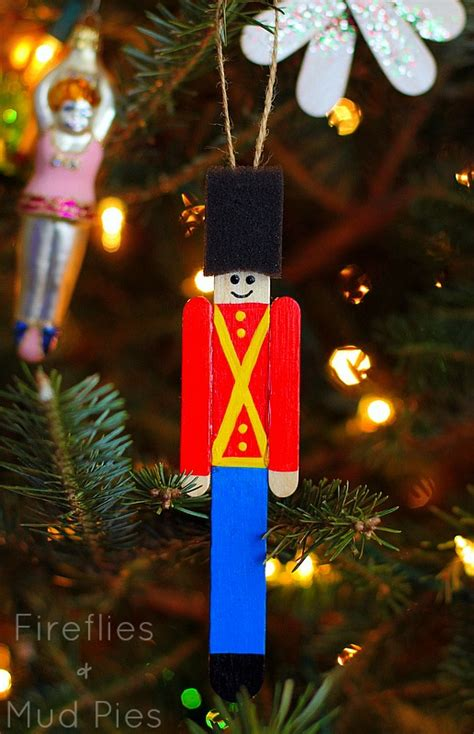 craft stick ornaments soldier ornament craft stick craft crafts