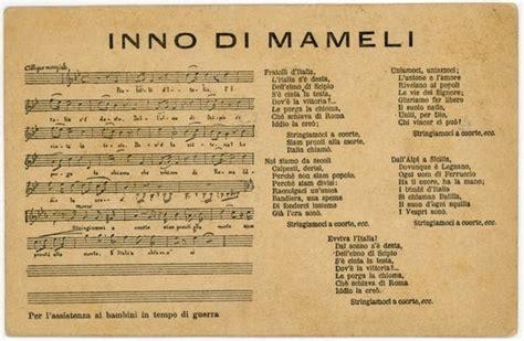 testo d l inno di mameli o fratelli d italia inno italiano