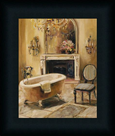 framed art for bathroom walls french bath i marilyn hageman bathroom spa framed art