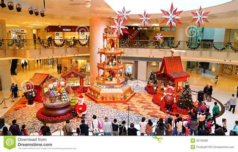 christmas decoration at shopping mall editorial stock photo image 35756583