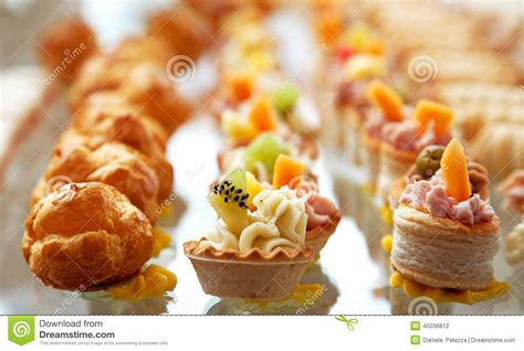 cocktail food food for cocktail on wedding stock photo image