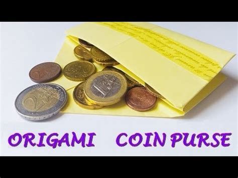 Origami Paper Purse - diy origami coin purse easy