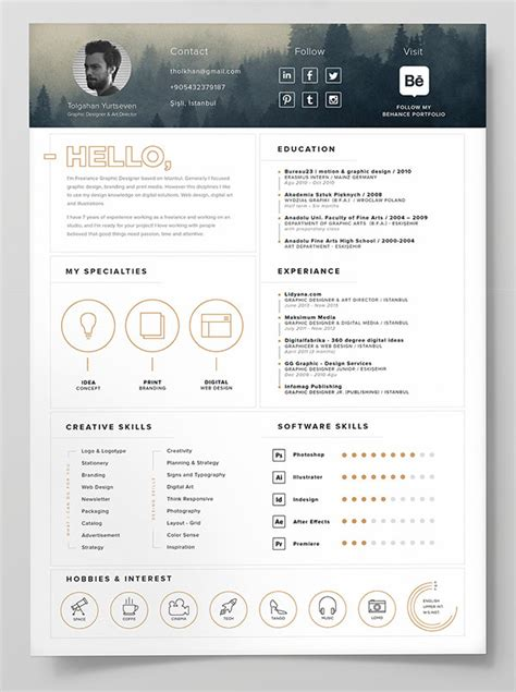 free cv templates 10 best free resume cv templates in ai indesign word psd formats