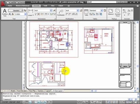 autocad add view layout autocad tutorial using annotation scaling youtube
