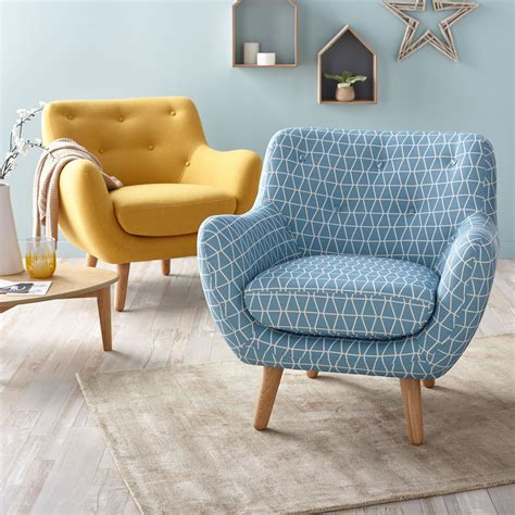 alinea decoration maison poppy meuble fauteuil esprit scandinave jaune moutarde
