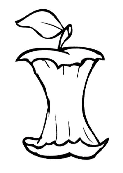 apple core coloring page the core welcome to evanweppler com