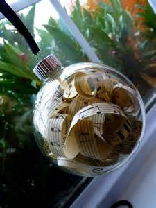vintage sheet music christmas ornaments glass accent by